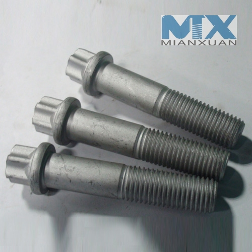 Hexagon plum flange bolt